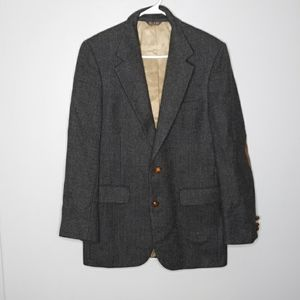 Bill Blass 100% wool two-button suit jacket
